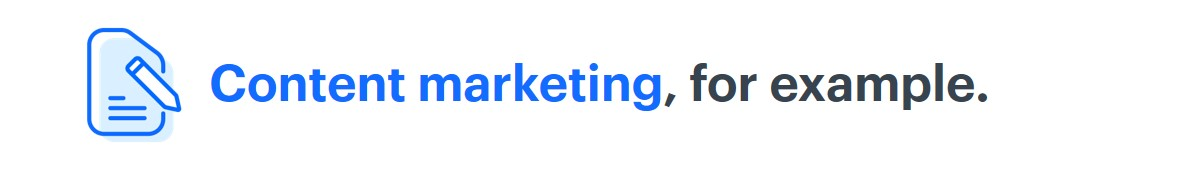 Content marketing - for example - title