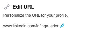 Edit and personalize linkedin url