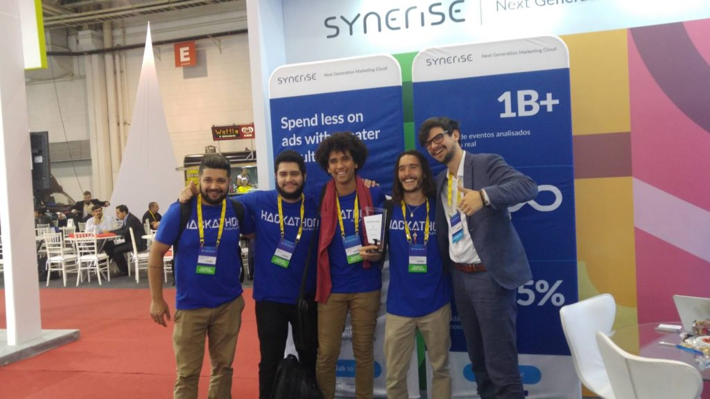 Hackathon in Brazil won thanks to Synerise, photo with the team