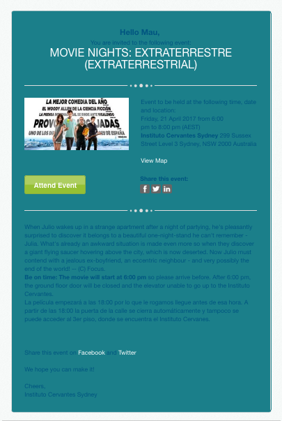 Example of an email with poor design, poor quality and old-fashioned style