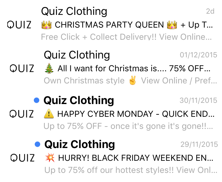 Several catchy email titles promoting a fashion brand for inspiring your digital marketing activities and open rate.