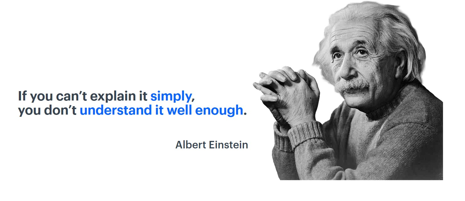 Quote by Albert Einstein and his photo