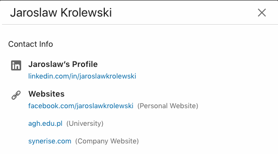 Connect your LinkedIn account to your company website or your blog