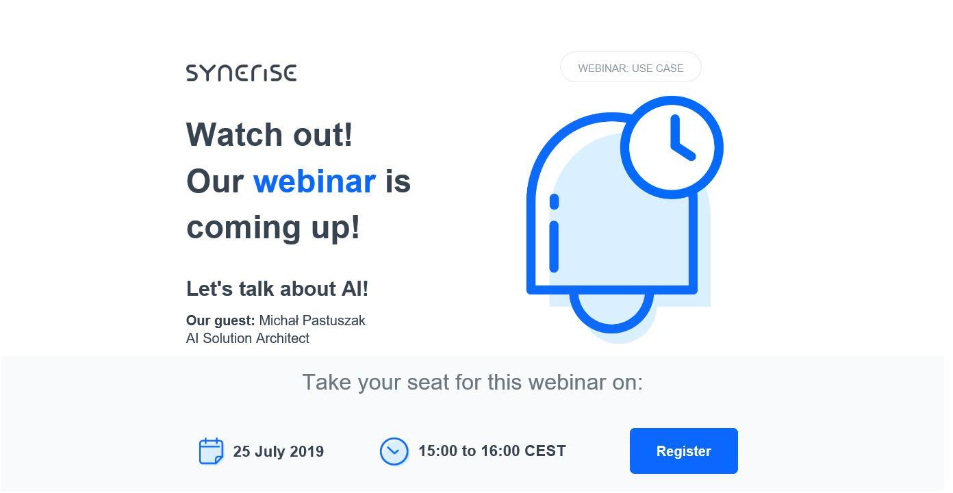Webinar synerise invitation mailing