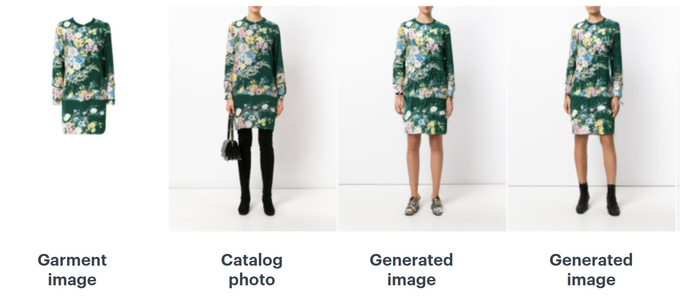 Dress photos collated with GAN generated images