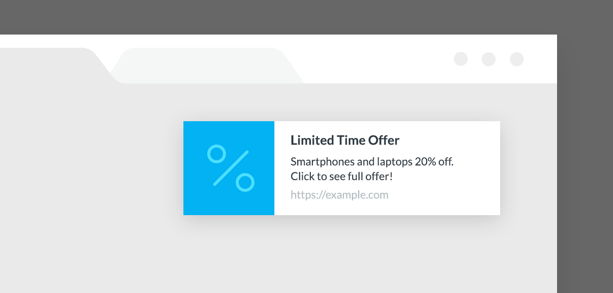 Webpush with limited time offer