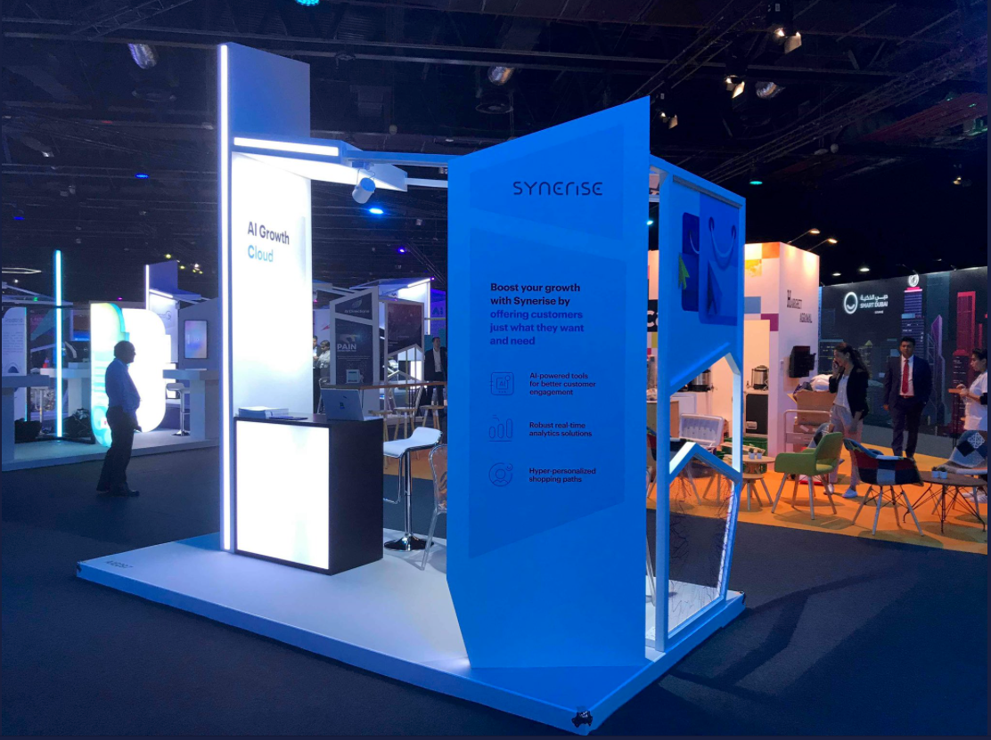 Synerise stand presented during AI Everything Dubai