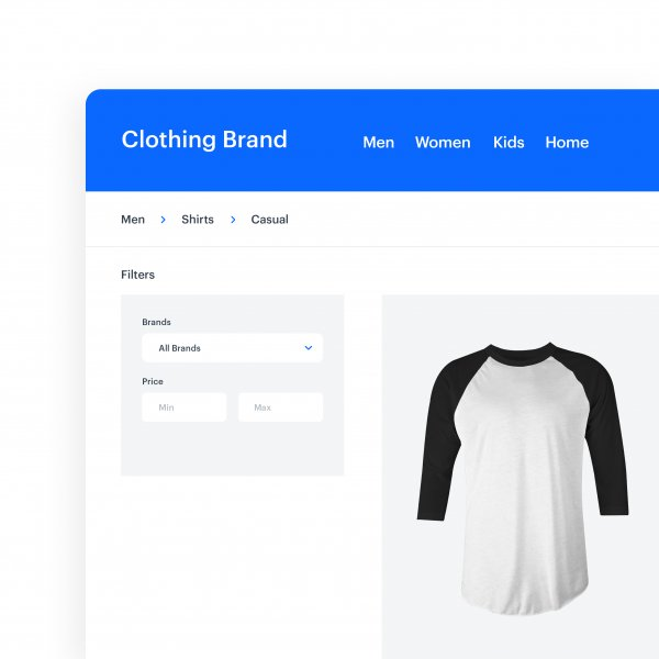 Filters on the product page