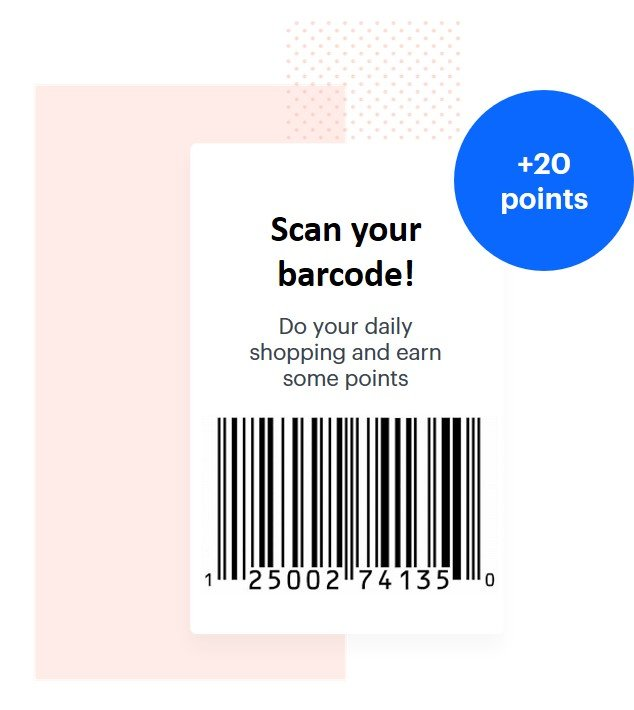 Promotion scan your barcode to get the discount