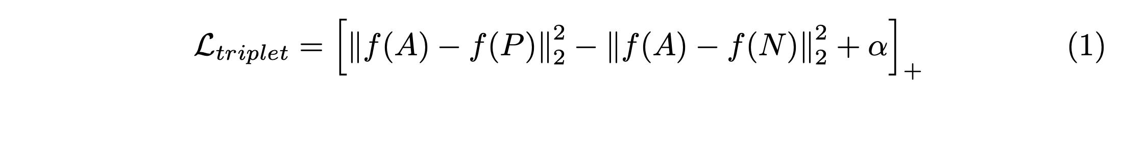 Triplet loss function