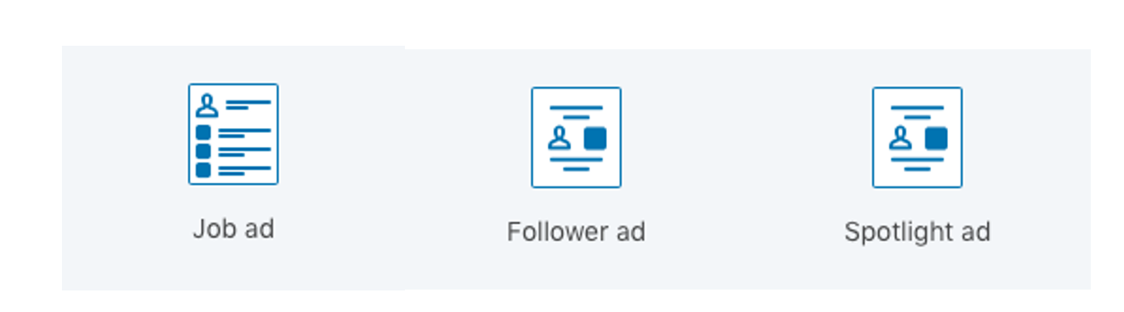Available formats for dynamic ads on linkedin
