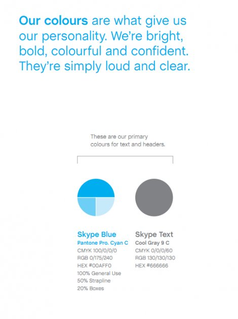 An example of primary colors for text and headers to help build a consistent brand identity.