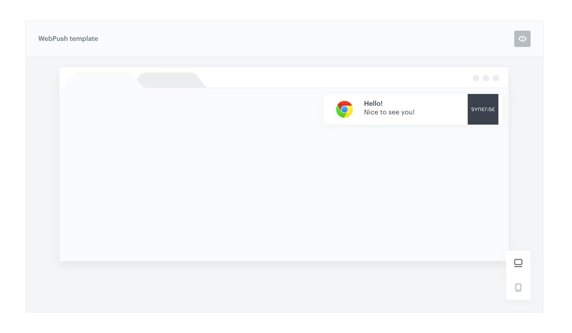 Webpush template - Synerise