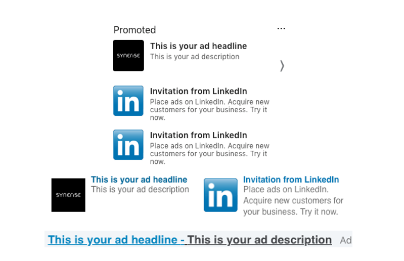 Example of text ad - Linkedin