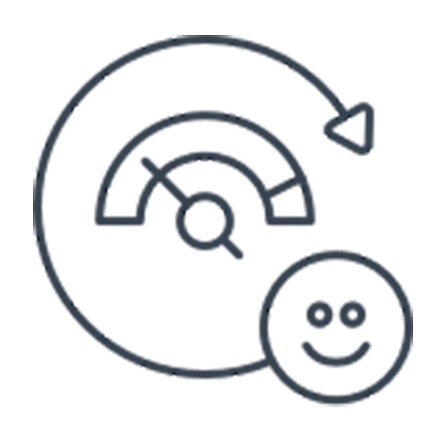 Happiness indicator symbol