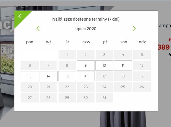 Date availability calendar