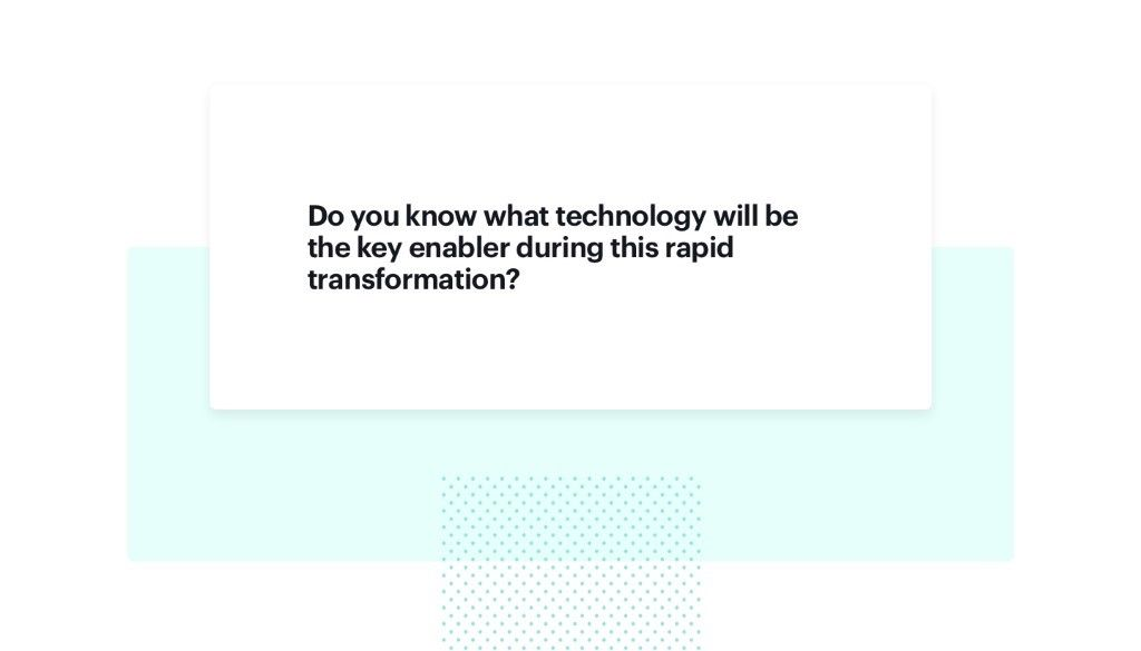 Key considerations for retailers connected with key technologies during transformation