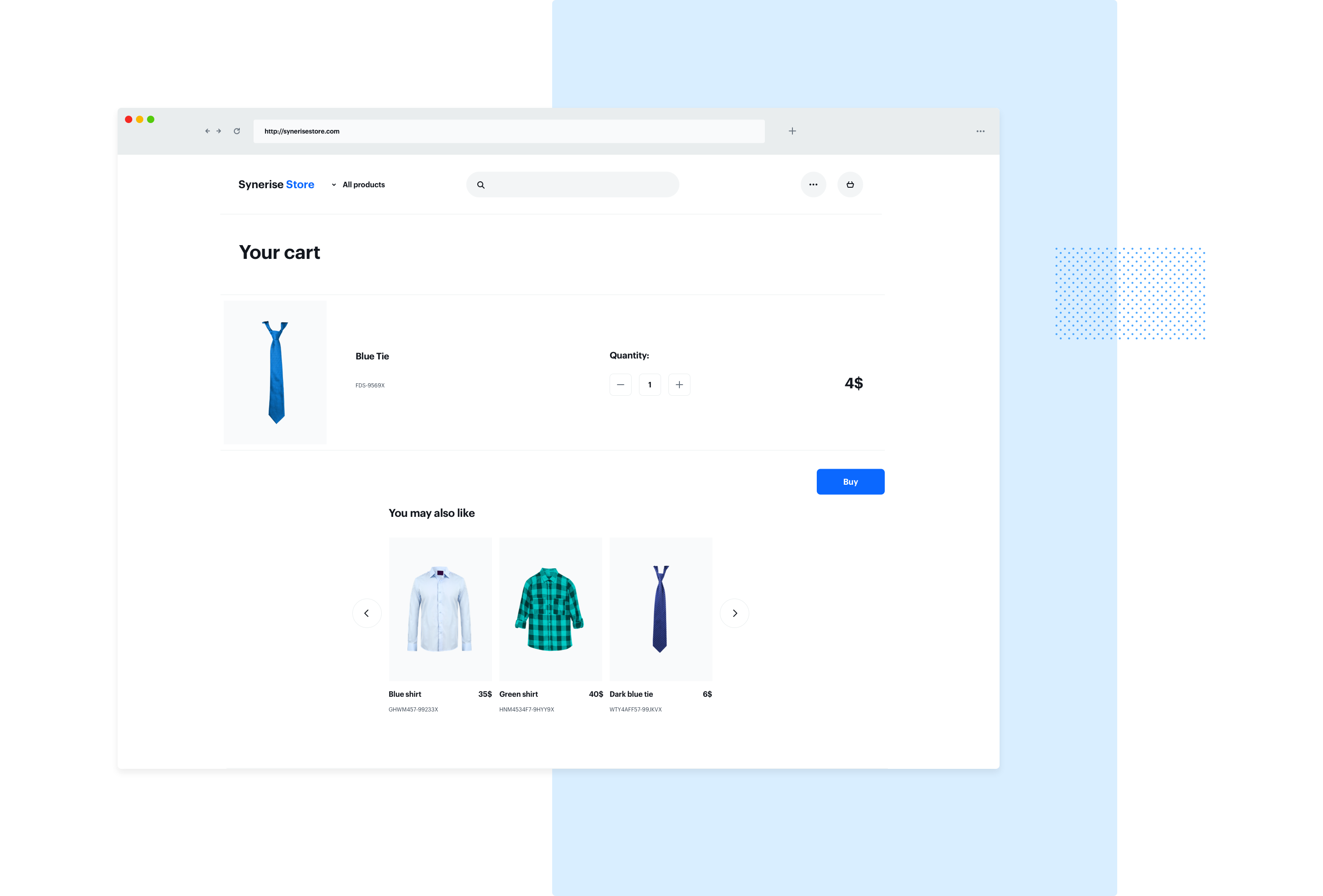 For other products - cross-sell personalized recommendations on the site